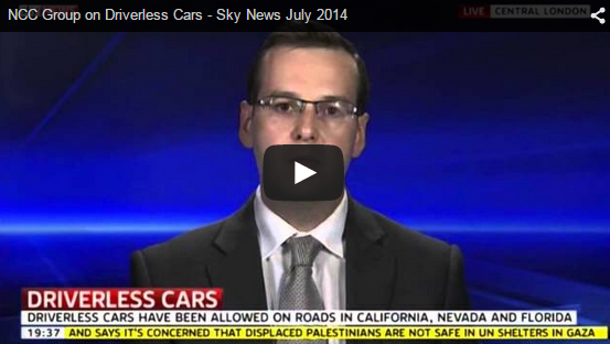 NCC Group Discusses Driverless Cars On Sky News