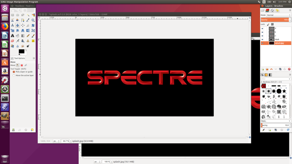 Spectre on a Television